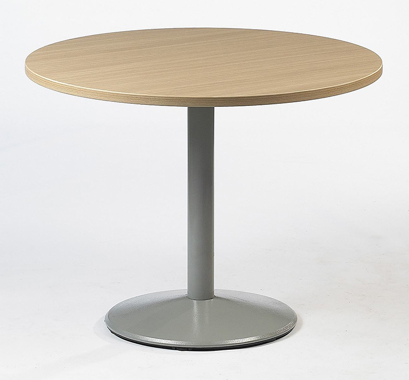 Table pied central corolle ets carayon for Table un pied