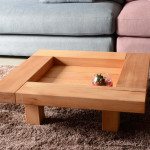 TABLE BASSE CARREE FENG SHUI
