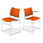 CHAISE CURVY CASAL ASSISE ET DOS TAPISSE